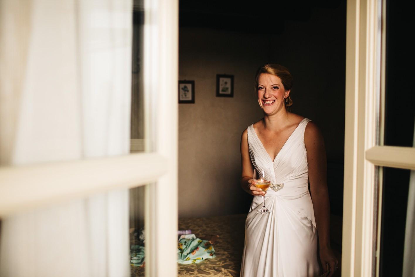 Bride portrait in Italy destination wedding