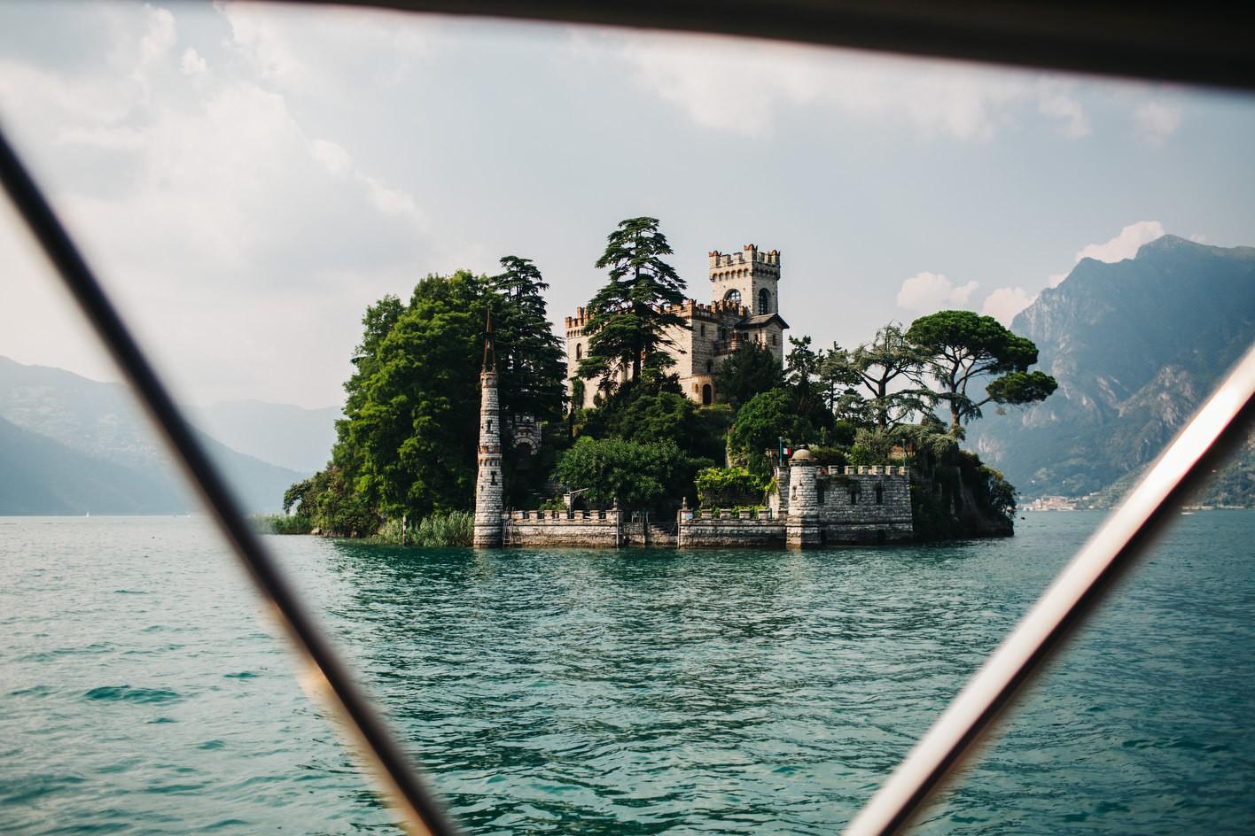 island in lake Iseo