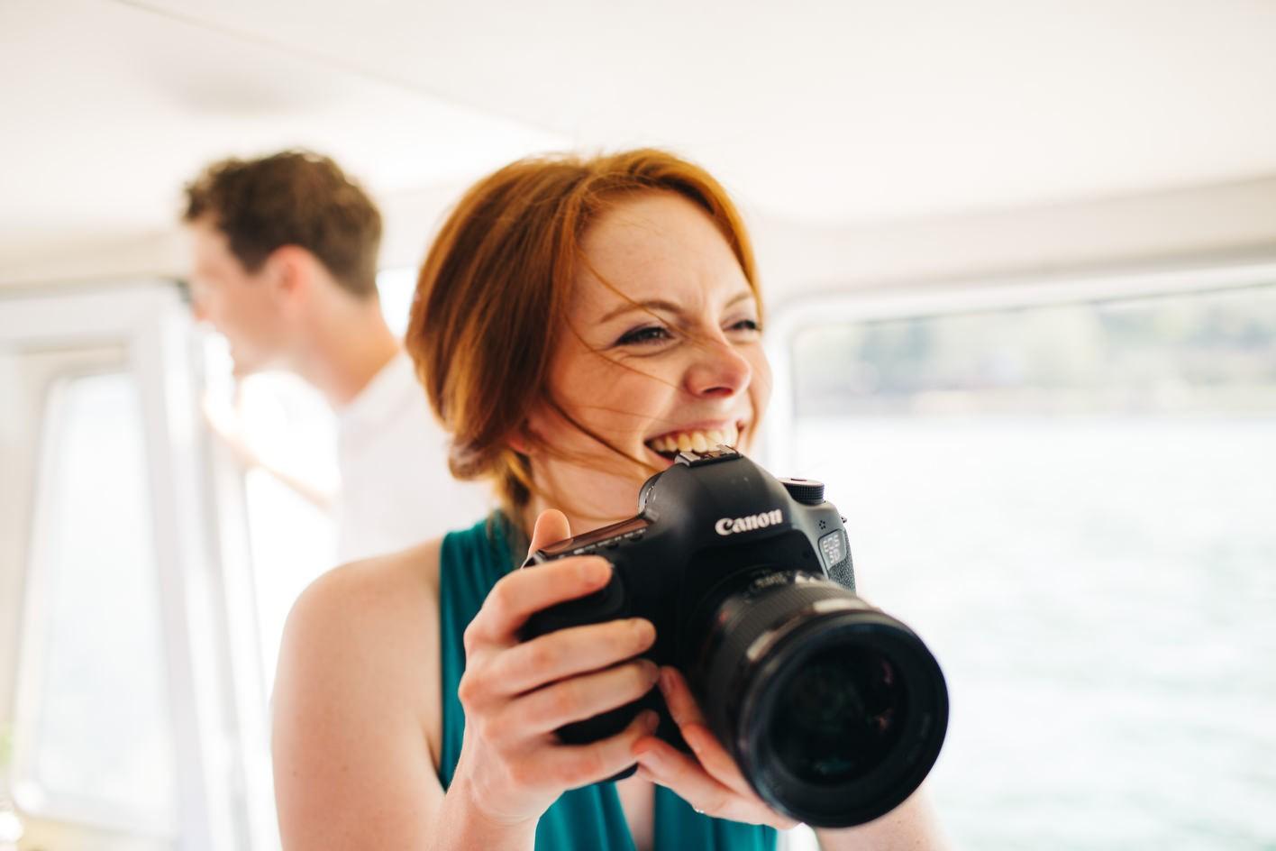 bridesmaid steals my camera