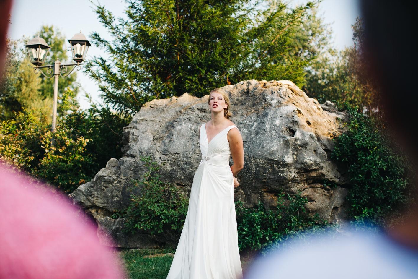 Bride starts speeches off