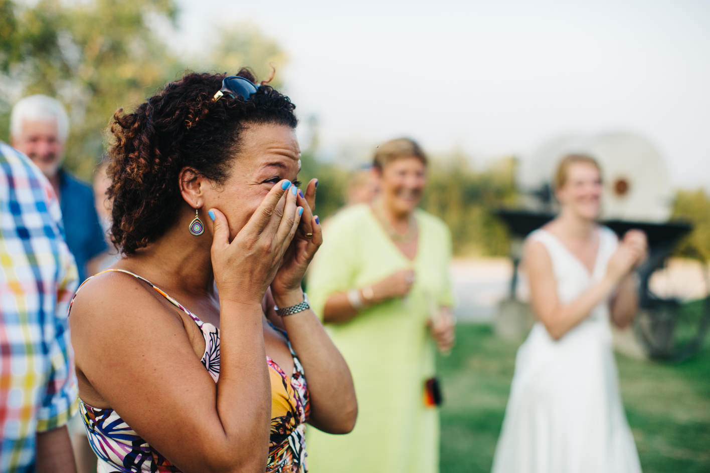 guest crying during wedding speeches