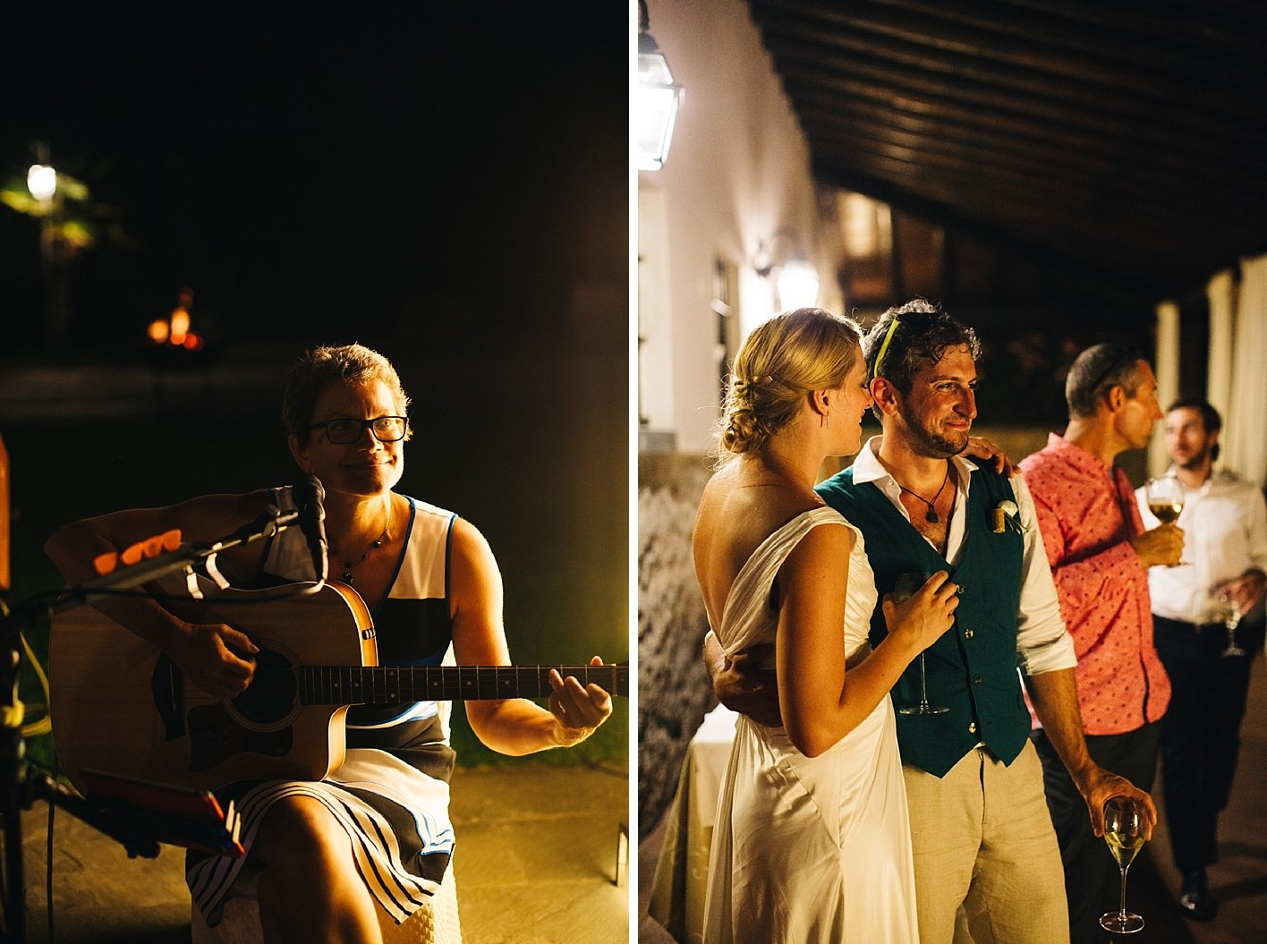 guest plays song for groom