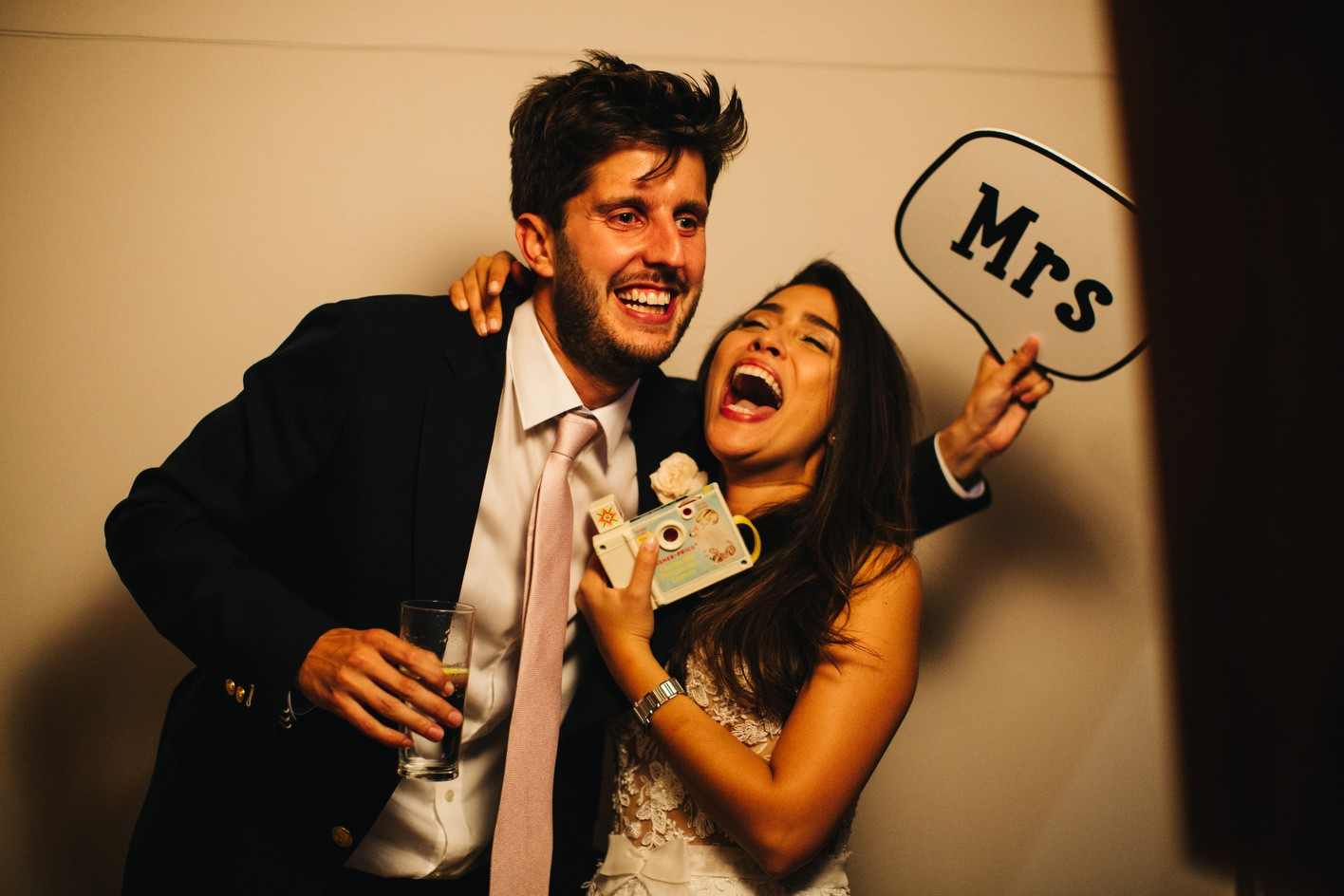 Photobooth at south west wedding