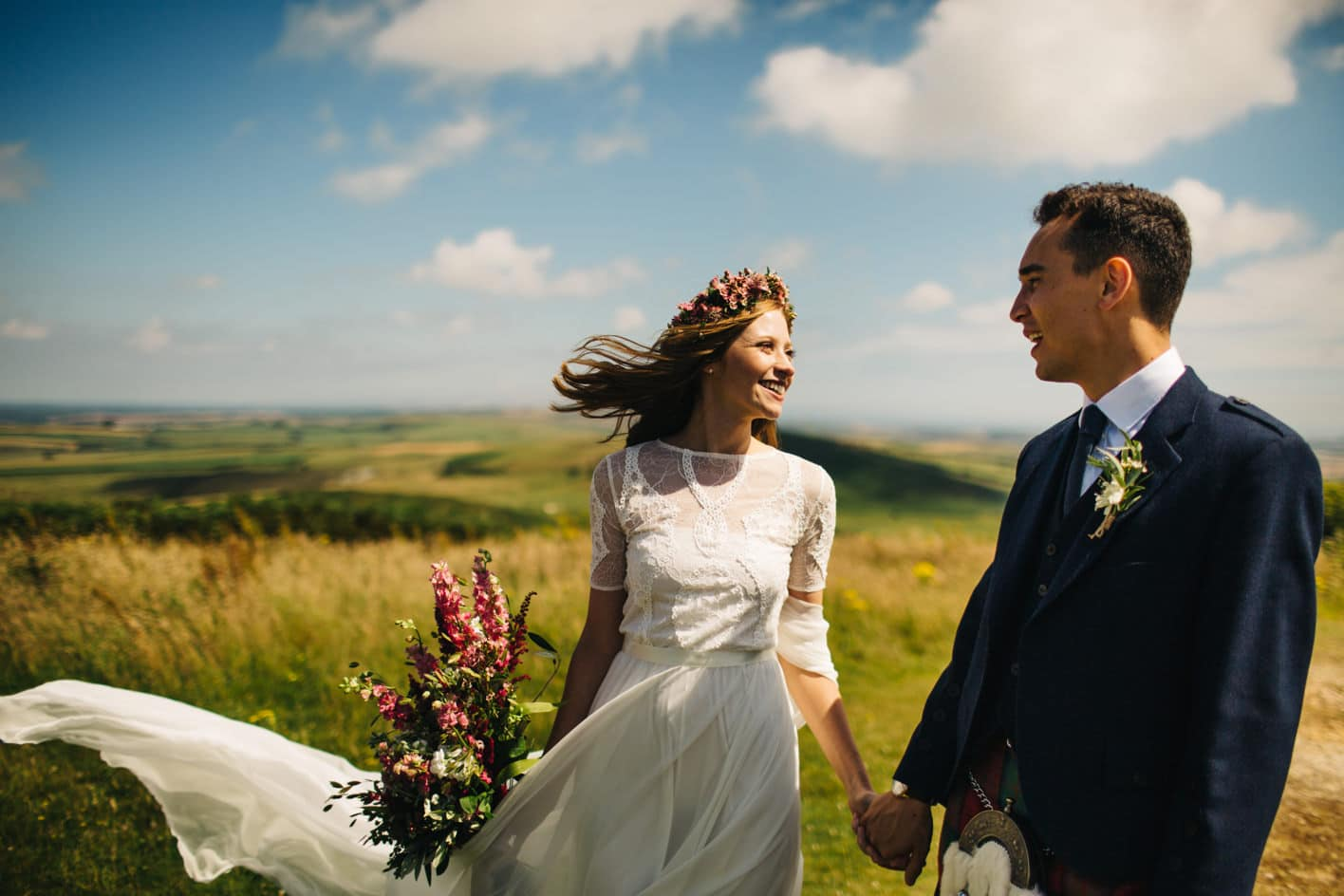 wedding portraits at Hardy's monument