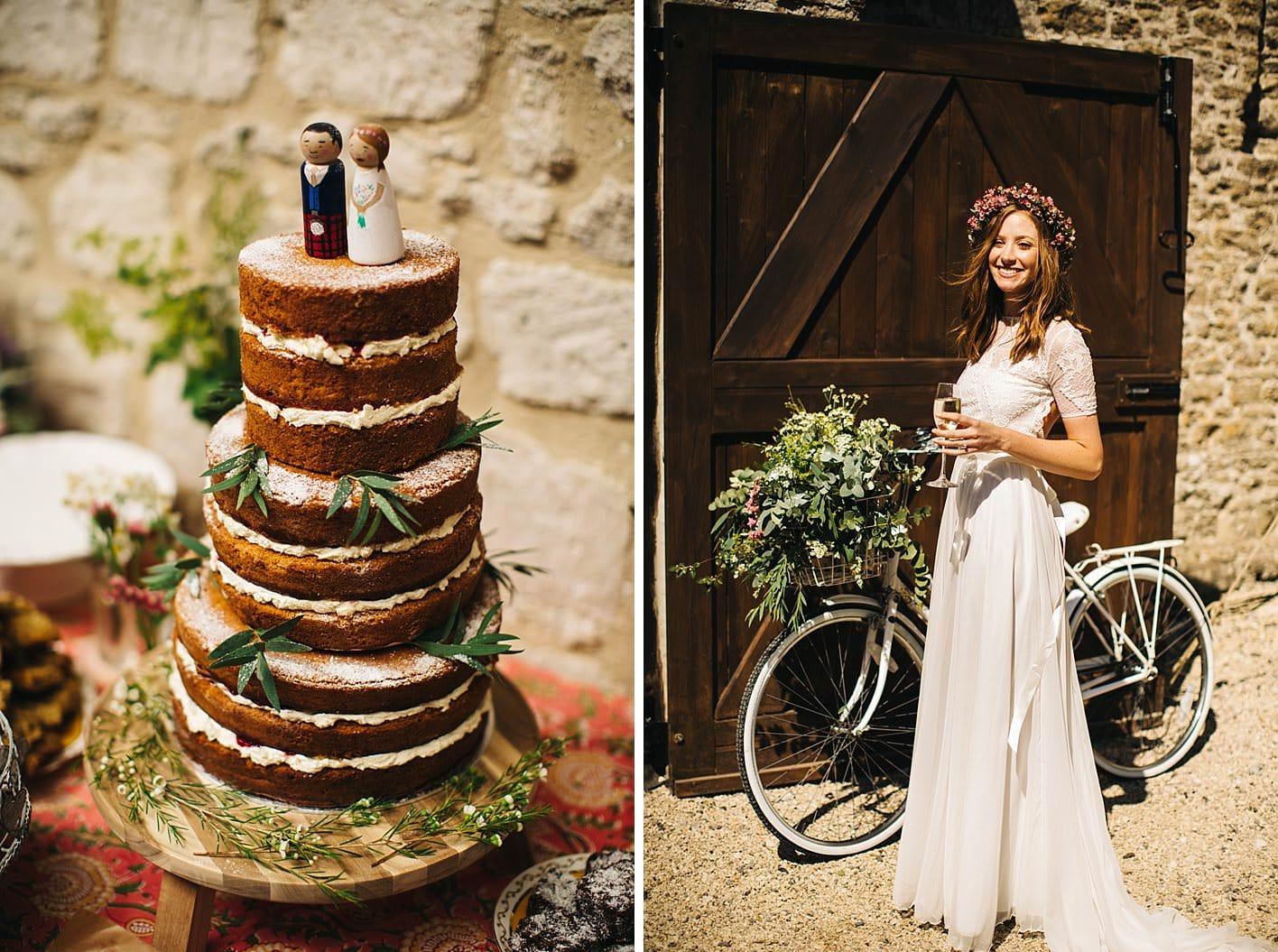 wedding cake by brides mum