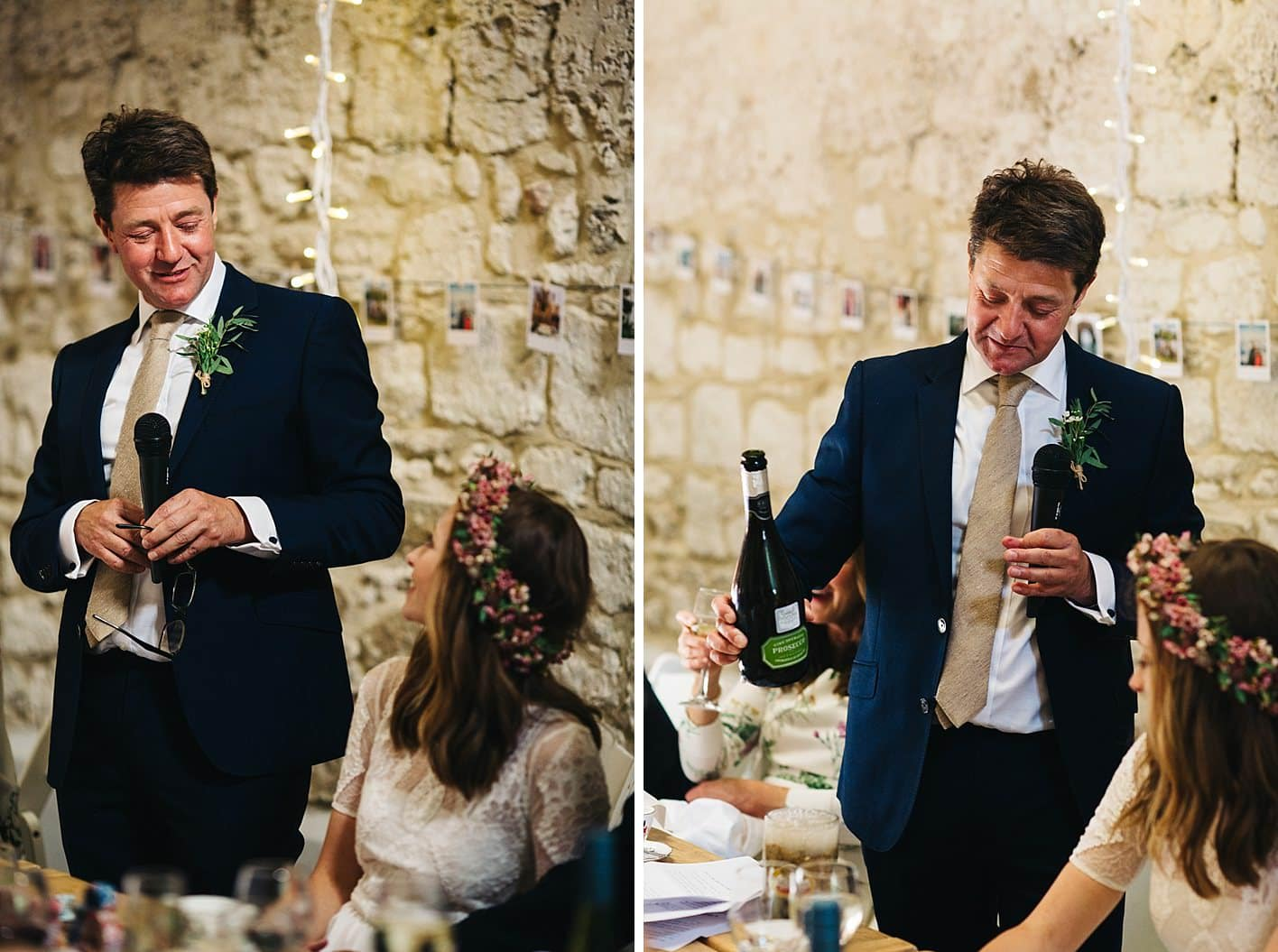 father of the bride doing wedding speech