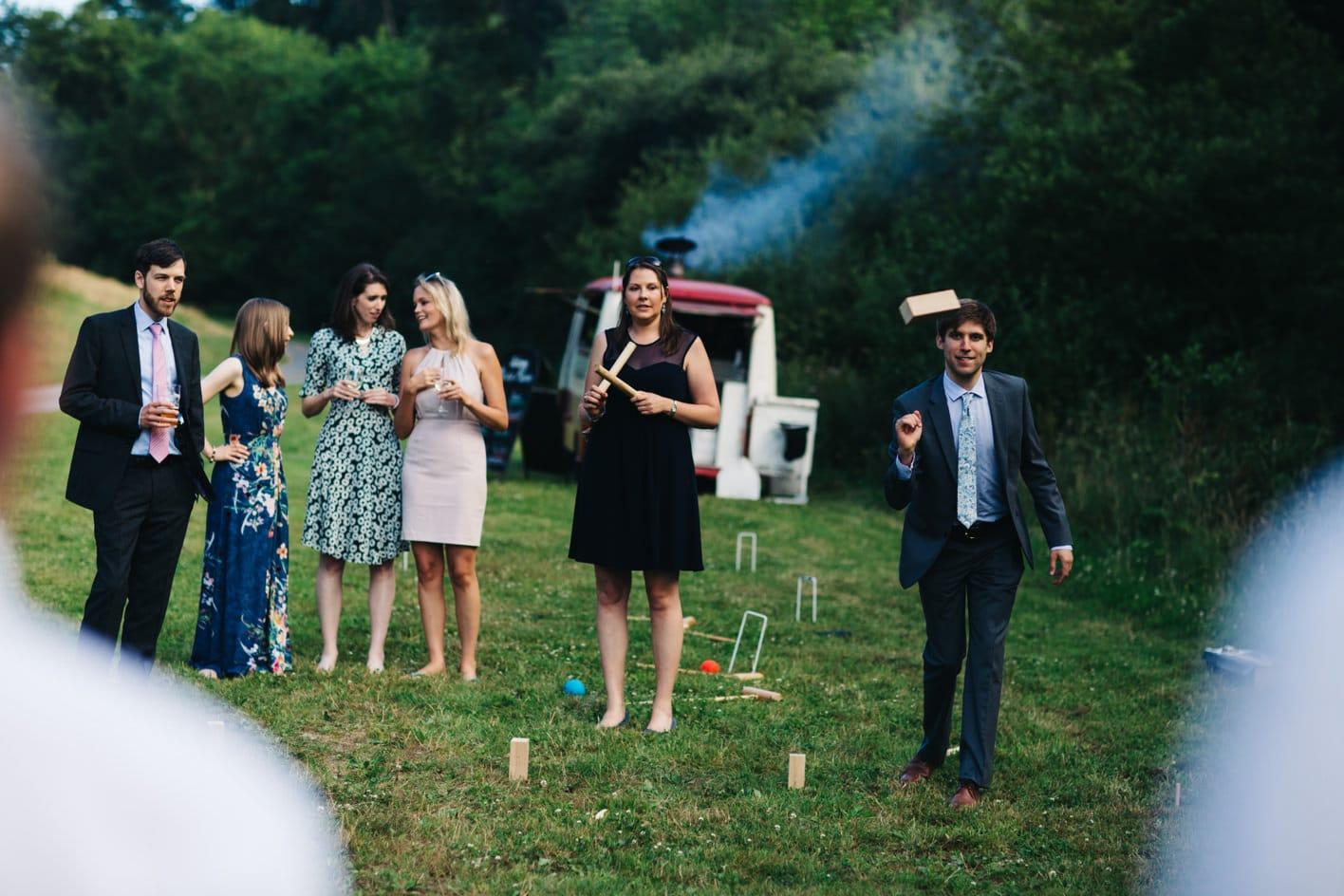 outdoor wedding lawn games