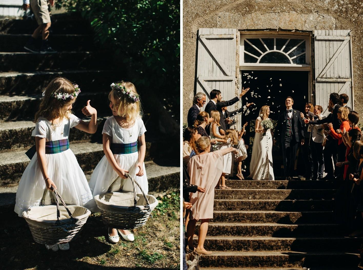 confetti at french wedding