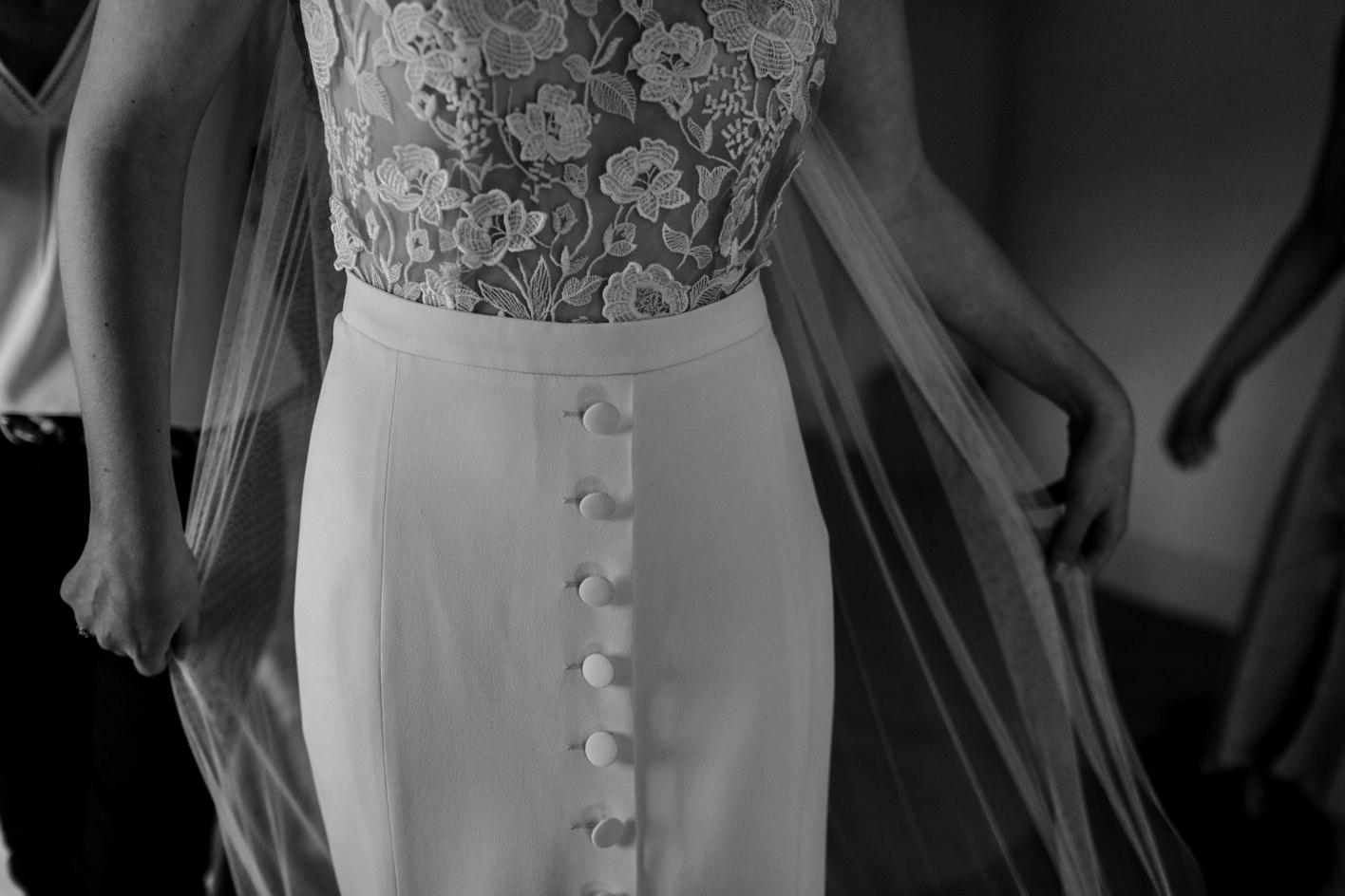 rime arodaky wedding dress detail