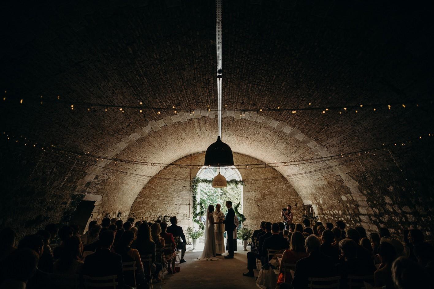 chateau de lartigolle wedding ceremony