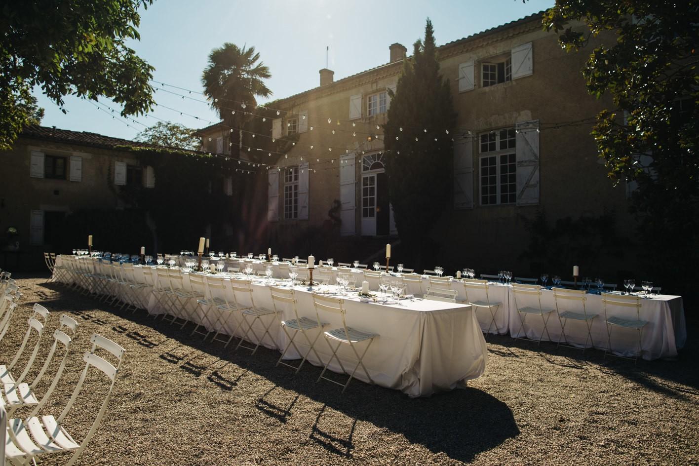 courtyard at chateau de lartigolle