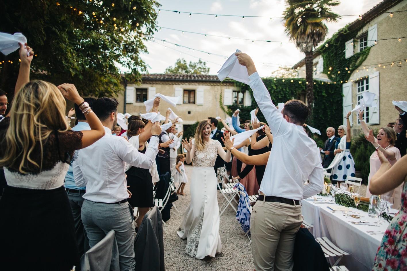 chateau de lartigolle wedding reception