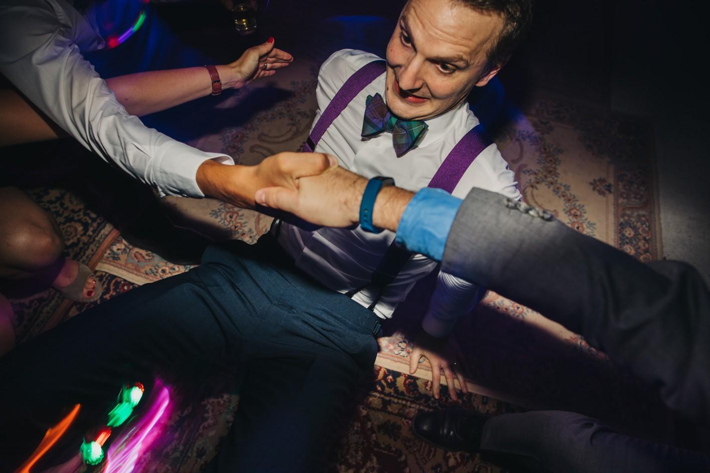 guest limbo on the dancefloor