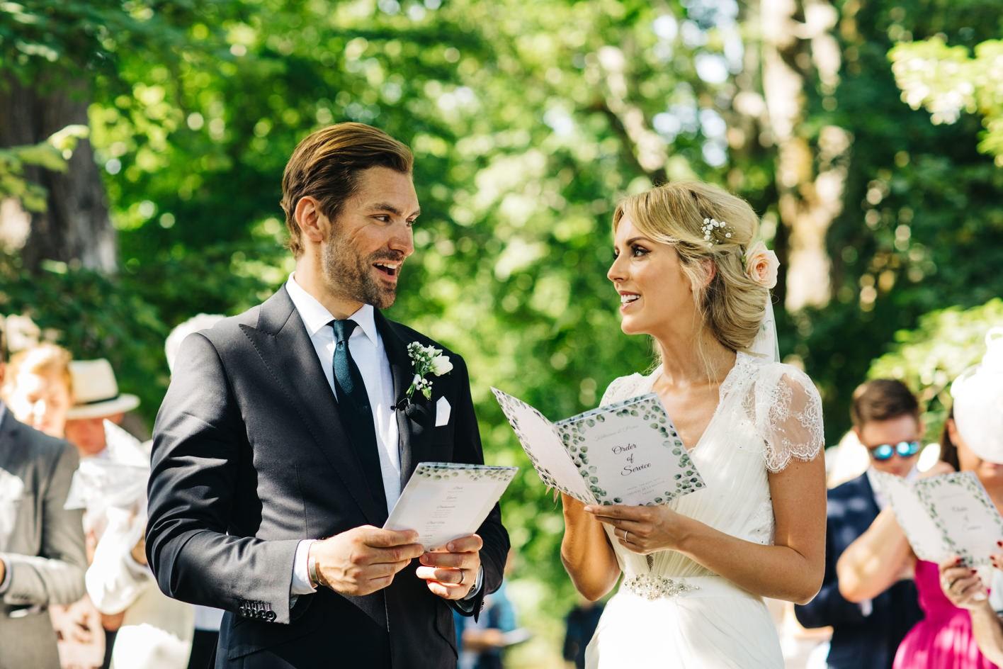 chateau de la bourlie wedding ceremony