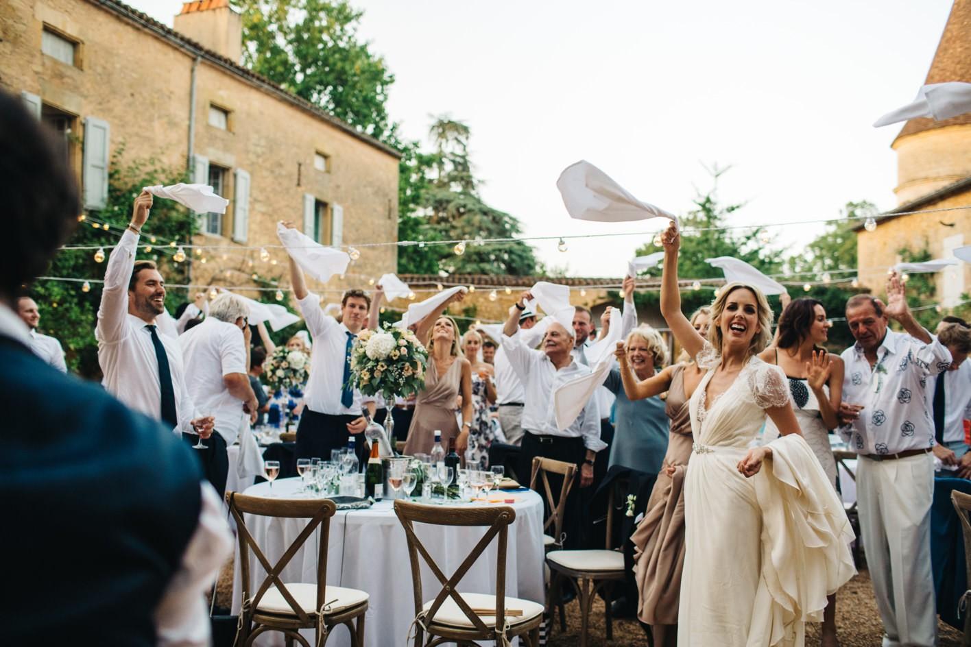 chateau de la bourlie wedding reception