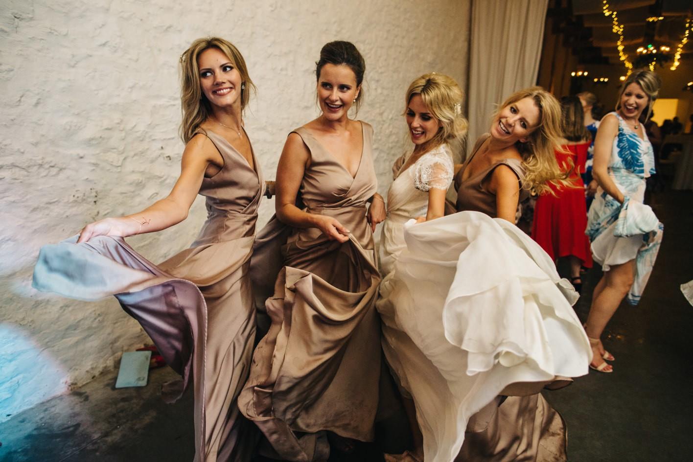 shaking wedding dresses