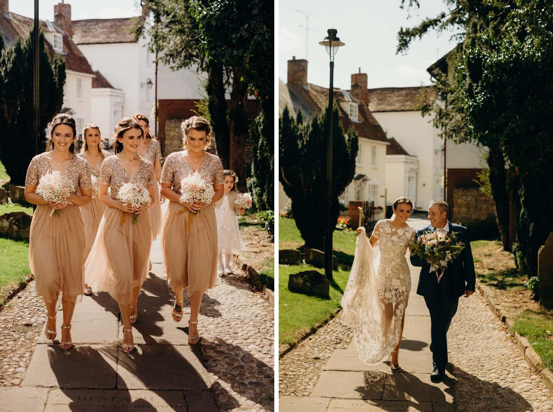 Summer church wedding