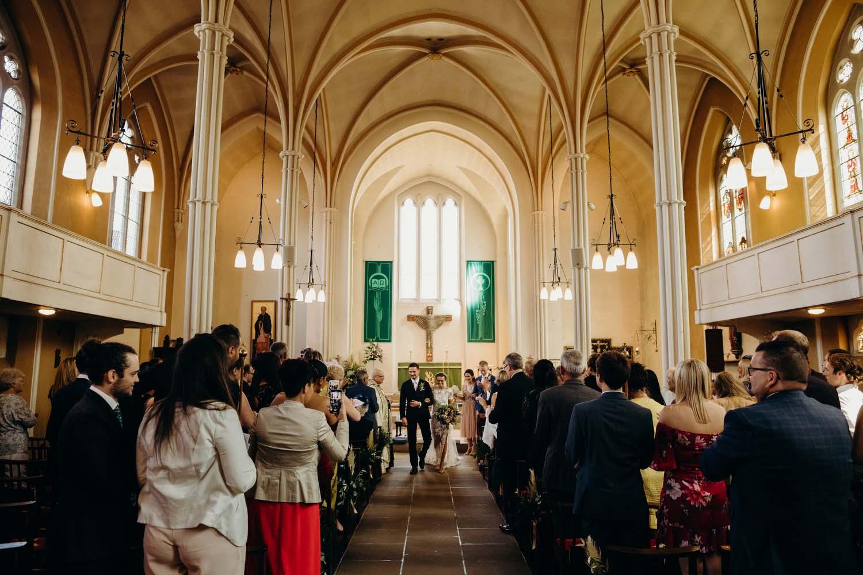 Beautiful architecture at English Church wedding