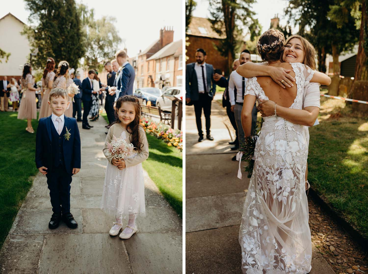 Flower girl and Page boy at wedding