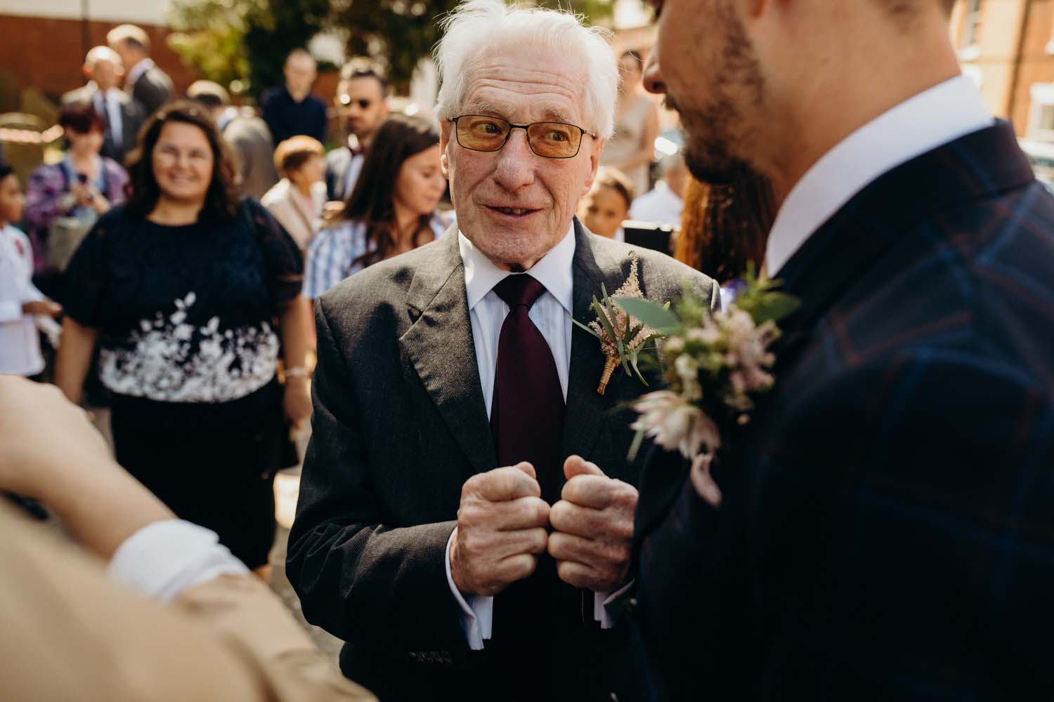 Grandfather of groom shares words of advice