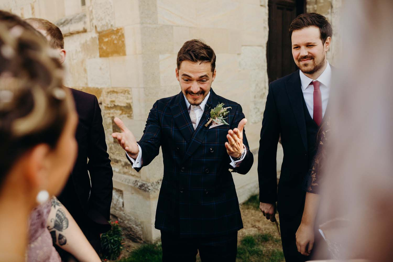 Groom ecstatic over bride