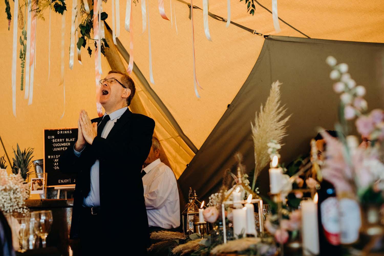 Poet does wedding reading