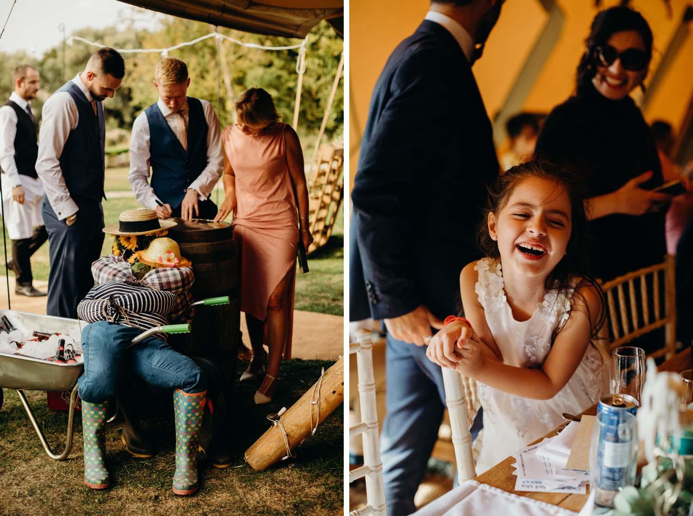 English tipi wedding