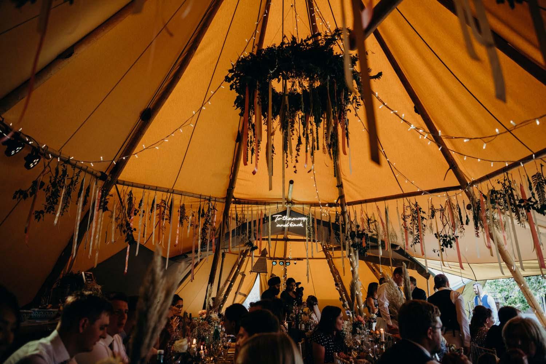 Tipi wedding in Buckinghamshire