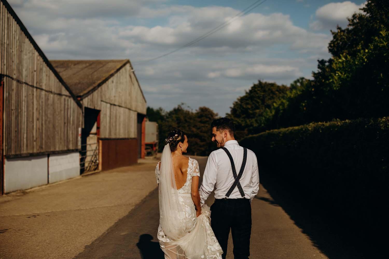 Couple take a walk at futho manor farm
