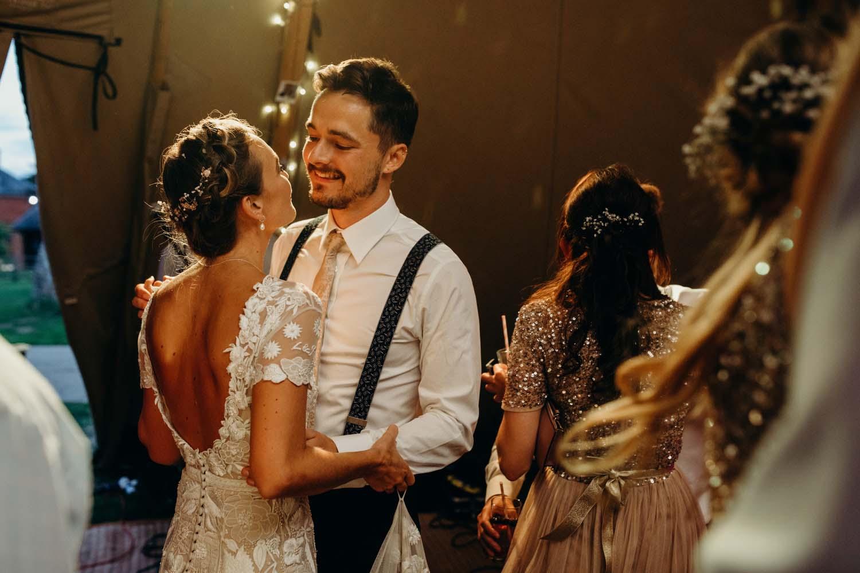couple dance at Buckinghamshire wedding