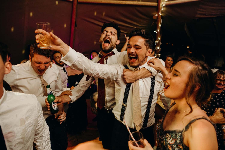 tipi wedding dance floor