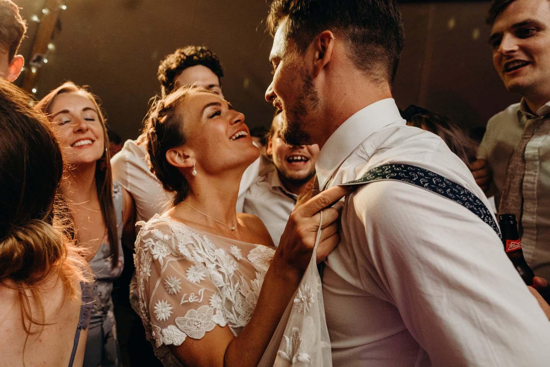 Newly weds on the dancefloor
