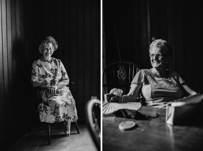 grandmother portraits at wedding