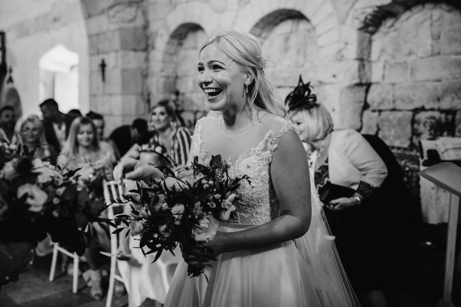 bride reaction to seeing her wife in dress