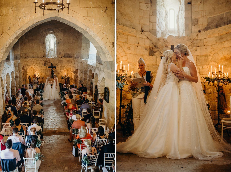 Chapel at Chateau de Lisse wedding