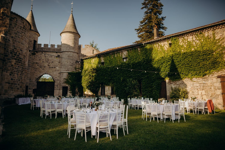 chateau de lisse wedding dinner