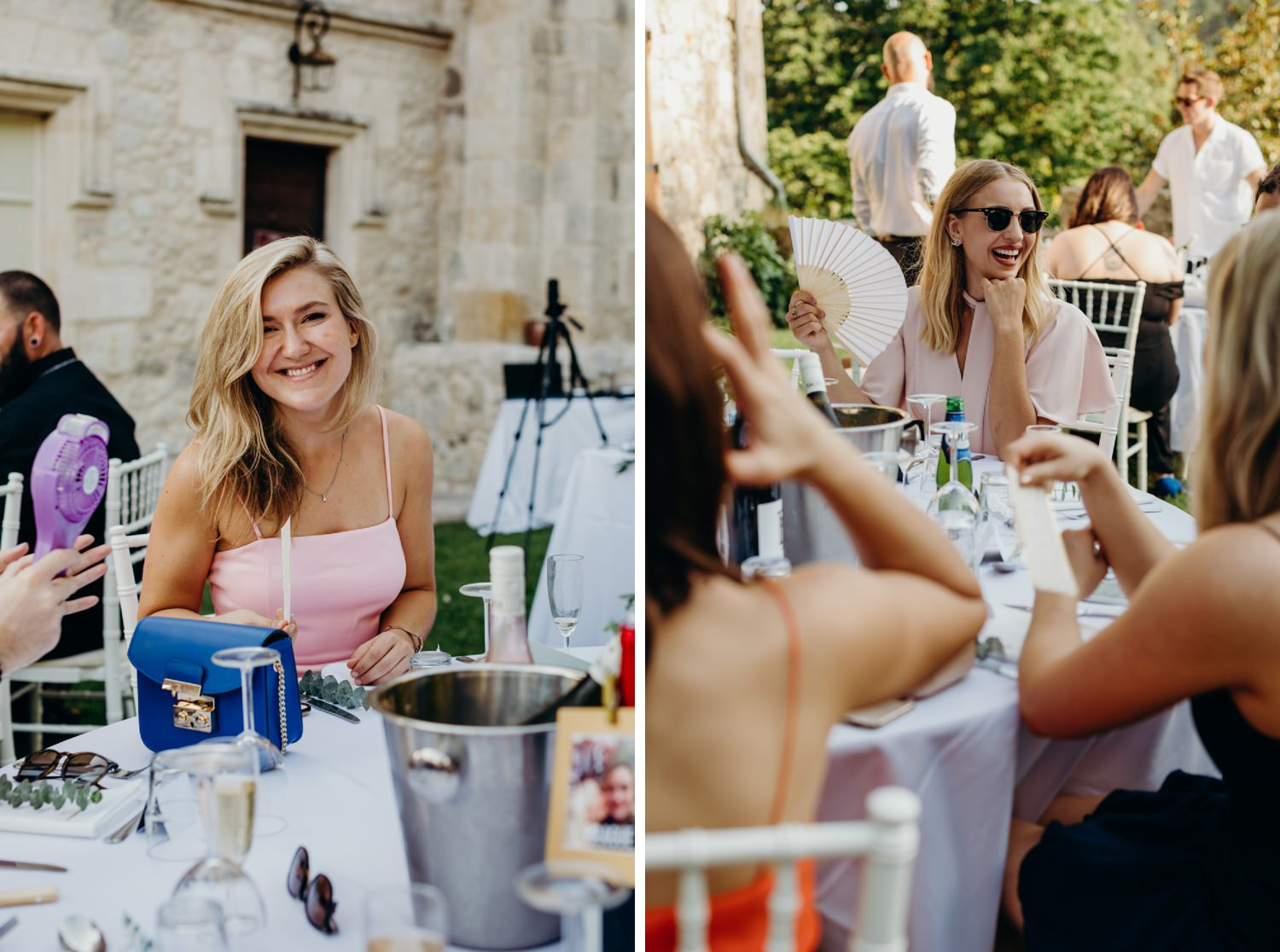 relaxed chateau wedding reception