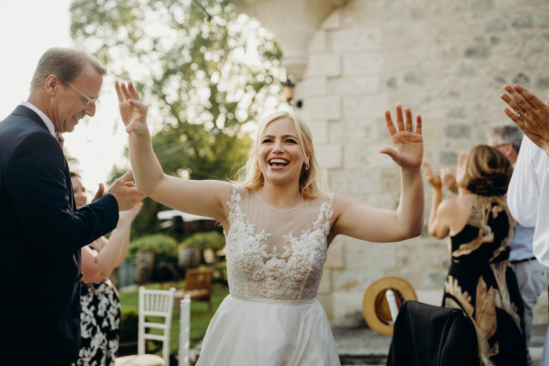 bride making entrace