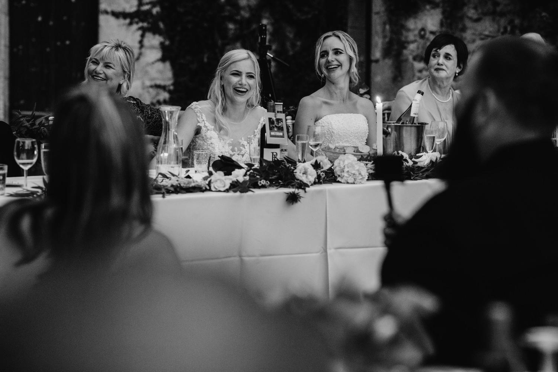 Wedding speeches at Dordogne wedding
