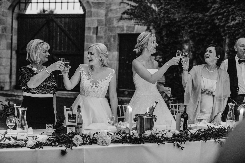 candle lit wedding speeches