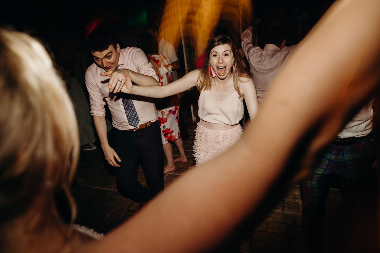 Ceilidh dance at wedding