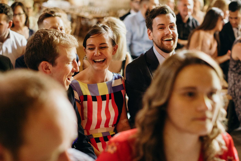 wedding guest laugh