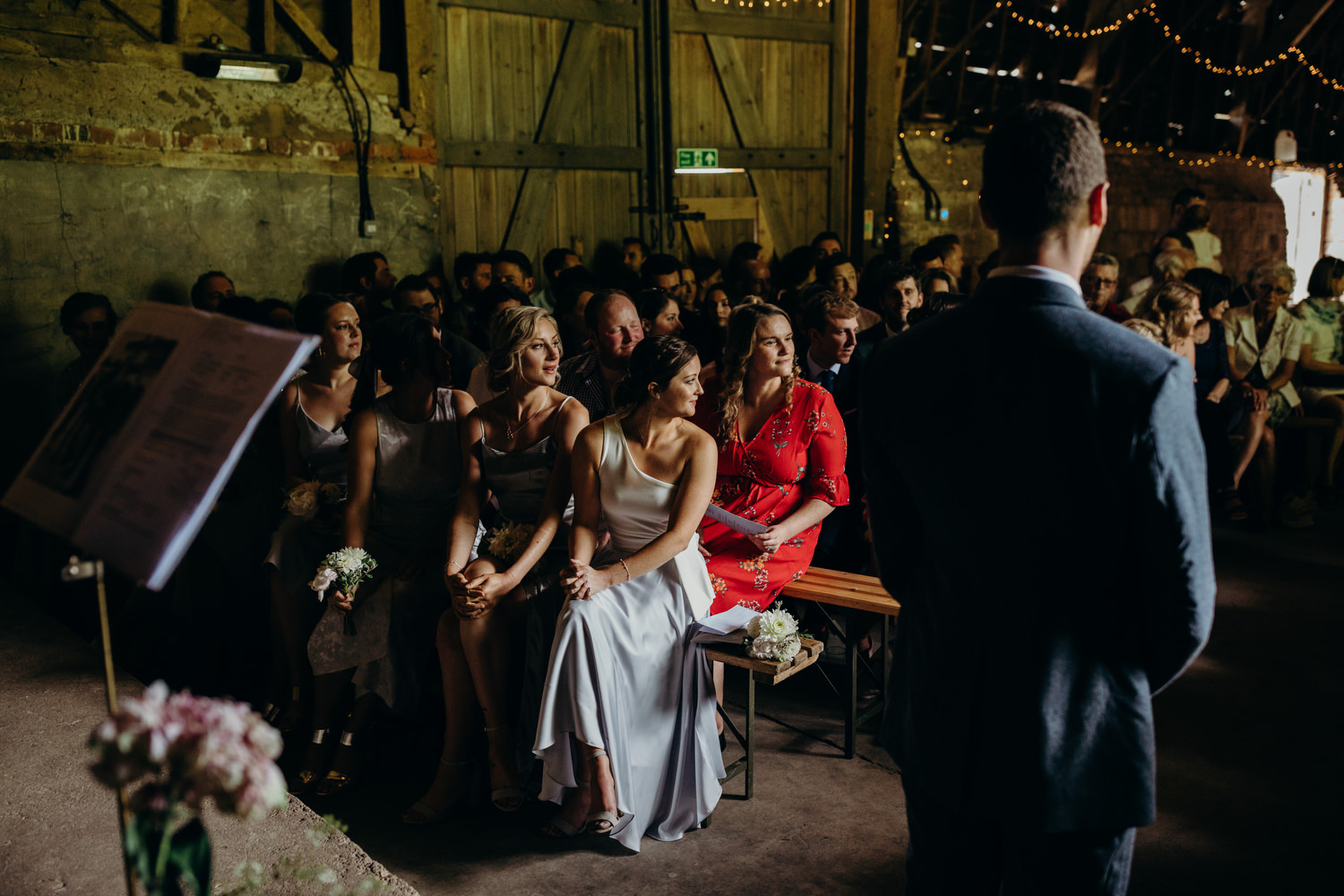 guests waiting for bride to arrive