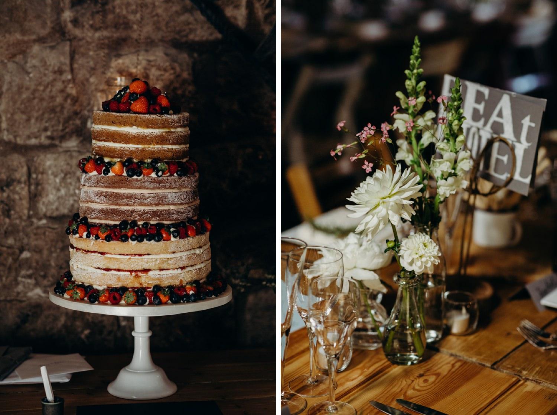 strawberry wedding victoria sponge cake