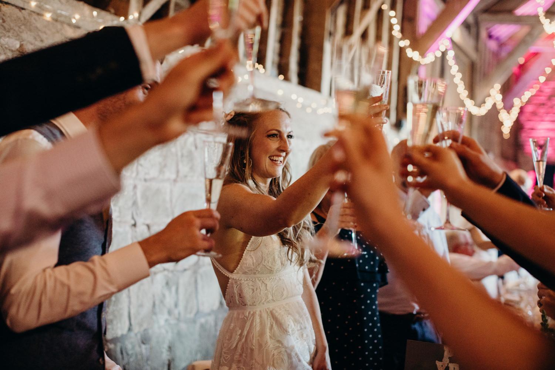 wedding speeches in barn