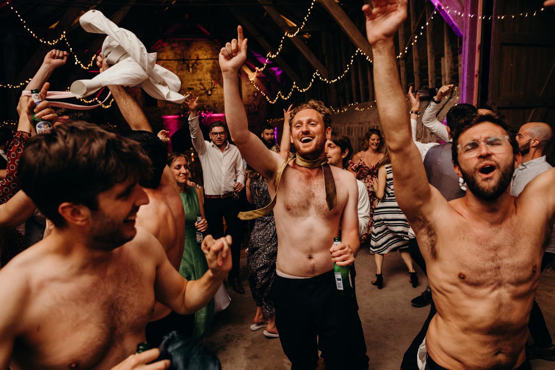 guys getting naked at wedding