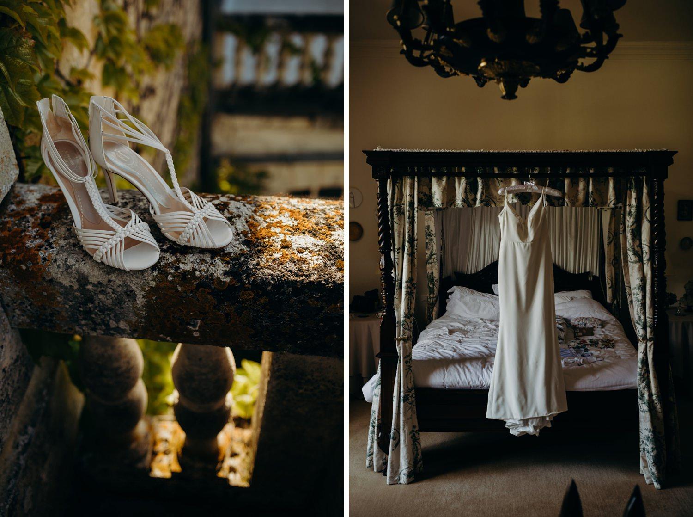 sassi holford wedding dress hanging