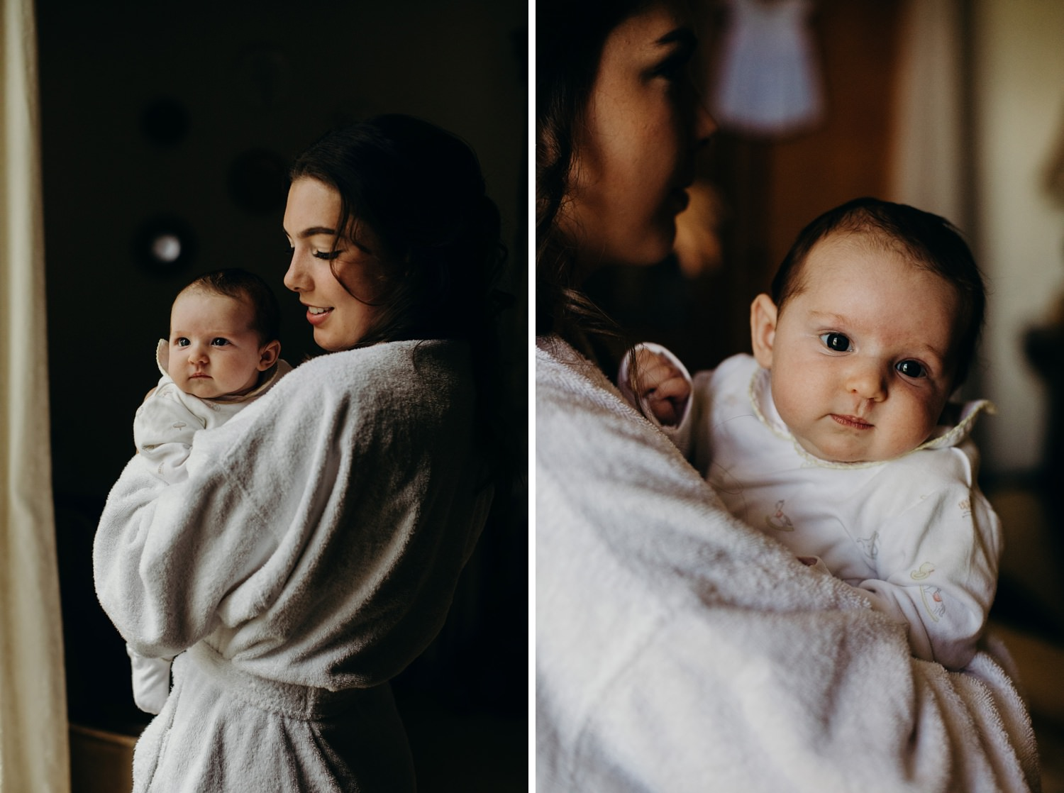 baby at first wedding