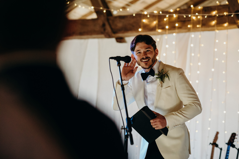 groom speech at chateau wedding