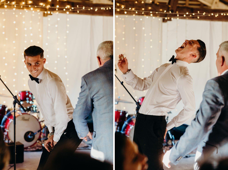 usher gets spanked at wedding